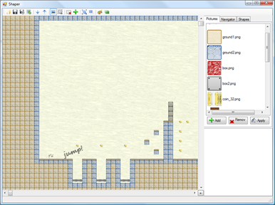 Level editor screenshot