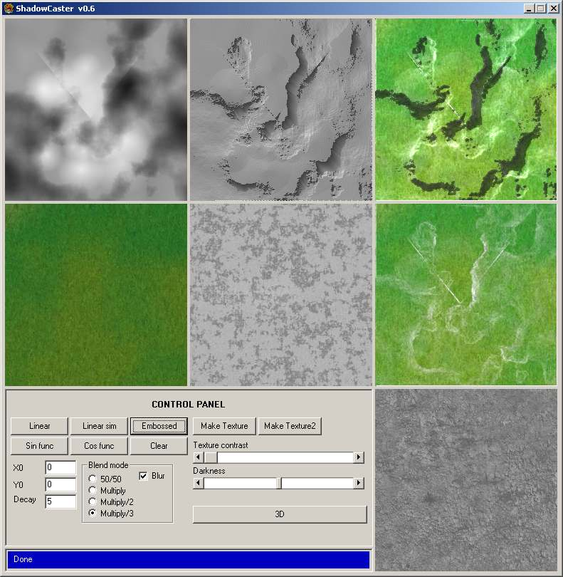 Generate a shadowmap and a colormap for your heightmap - gljakal